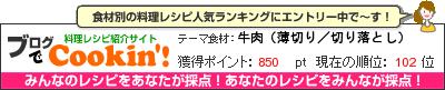 料理レシピ集 byブログでCookin'! 牛肉(薄切り/切り落とし)